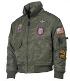 Dětská pilotní bunda CWU zelená