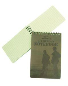 Zápisník voděodolný, 13x8cm