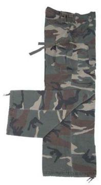 Bojové kalhoty US ARMY M65 rip stop,woodland