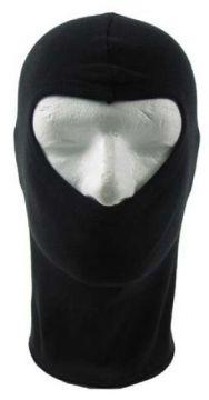 Zásahová kukla jeden otvor, lehká 100% bavlna černá