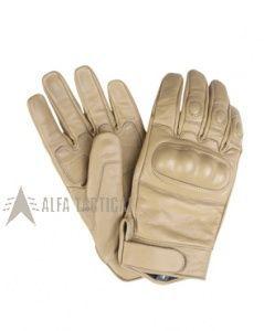 Taktické kožené rukavice, coyote, vel. S