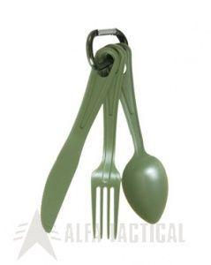 Military příbor set 3ks oliv