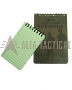 Vojenský zápisník Mil-tec spirálový, voděodolný 150x100mm