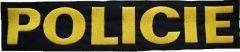 Nášivka Policie velká 34 x 7,3cm suchý zip