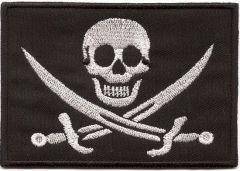 Nášivka Pirát (E-51), suchý zip
