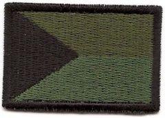 Nášivka vlajka ČR malá, bojová (A-10)-suchý zip