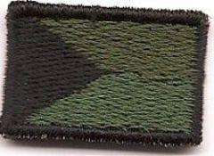 Nášivka vlajka ČR mini, bojová suchy zip