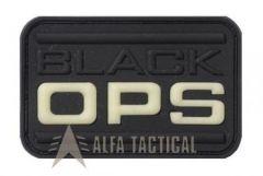 Nášivka BlackOPS, neonově žlutá ve tmě, černá