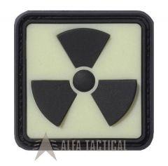 Svíticí Nášivka H3 RADIOAKTIV, neonově žlutá ve tmě, černá