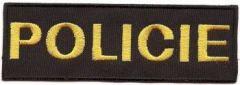 Nášivka Policie malá 12x4cm, suchý zip