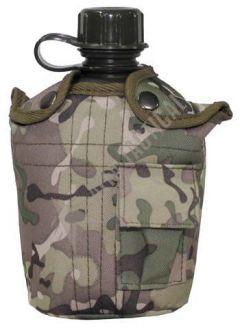US Polní lahev MFH 1l s obalem, operation-camo