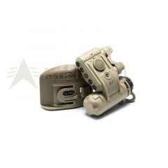 Taktická přilbová svítilna SUREFIRE Helmet Light HL1-B-TN ( LED: 3x bílá, 2x červená, IR majáček)