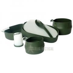 Jídelní sada Wildo CAMP-A-BOX, oliv zelená