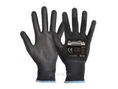 Lehké rukavice pro osobní prohlídky, černé