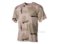 Bavlněné triko MFH, Desert 3 barvy