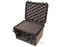 Vodotěsný kufr s pěnovou výplní 235x180x105 mm, černý