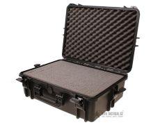 Vodotěsný kufr s pěnovou výplní 500x350x194 mm, černý