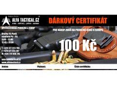 DÁRKOVÝ CERTIFIKÁT ALFATACTICAL 100,-CZK