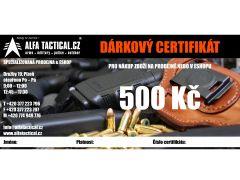DÁRKOVÝ CERTIFIKÁT ALFATACTICAL 500,-CZK