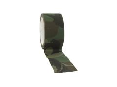 Textilní lepící páska 50mm x 10m, Woodland