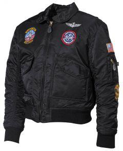 Dětská pilotní bunda CWU černá