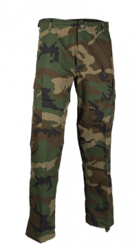 Bojové kalhoty US ARMY (BDU) Ripstop woodland vel. S