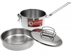 Nerezové nádobí ZEBRA Camping pot 14 cm