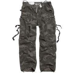 Kalhoty Surplus Vintage Fatigues, blackcamo