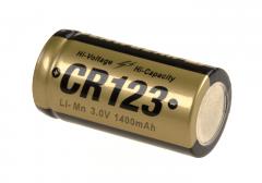 Lithiová baterie CR123 3V Clawgear 1400 mAh