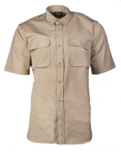 Pánská košile Mil-Tec TROPENHEMD krátký rukáv, khaki