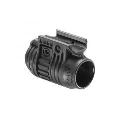 Adaptér na svítilnu FabDefense PLA Piccatiny Rail 19mm, černý