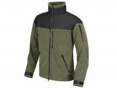 Fleecová bunda Helikon Classic Army, olive-černá