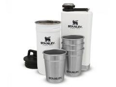 Dárkový set Stanley Adventure Series placatka 250ml + panáky 4ks, bílý