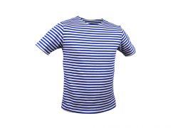 Ruské námořnické triko Marine - krátký rukáv, světle modré