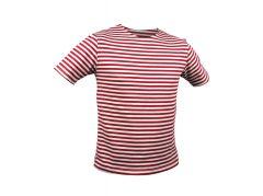 Ruské námořnické triko Marine - krátký rukáv, červené