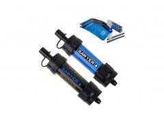 Vodní cestovní filtr SAWYER MINI Twin pack, 2ks, modrý/černý